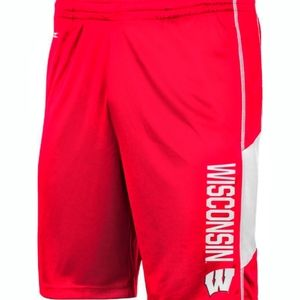 Wisconsin Badgers Mens Athletic Dry Fit Shorts New